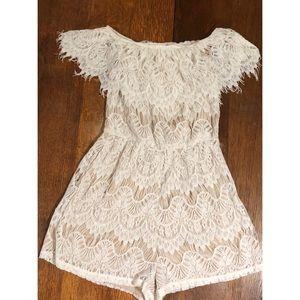 Rue 21 Lace Off The Shoulder Shorts Dress
